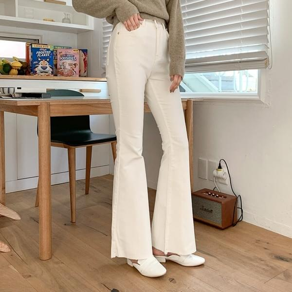 Wearable*corduroy Flared trousers