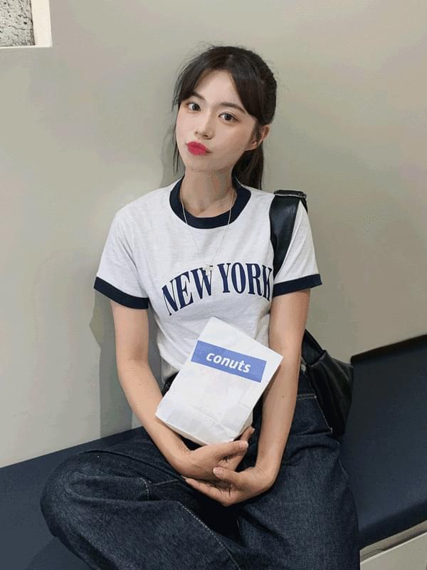 New York color scheme short sleeve T