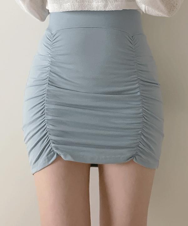 Body Correction Spandex Shirring Skirt 3color