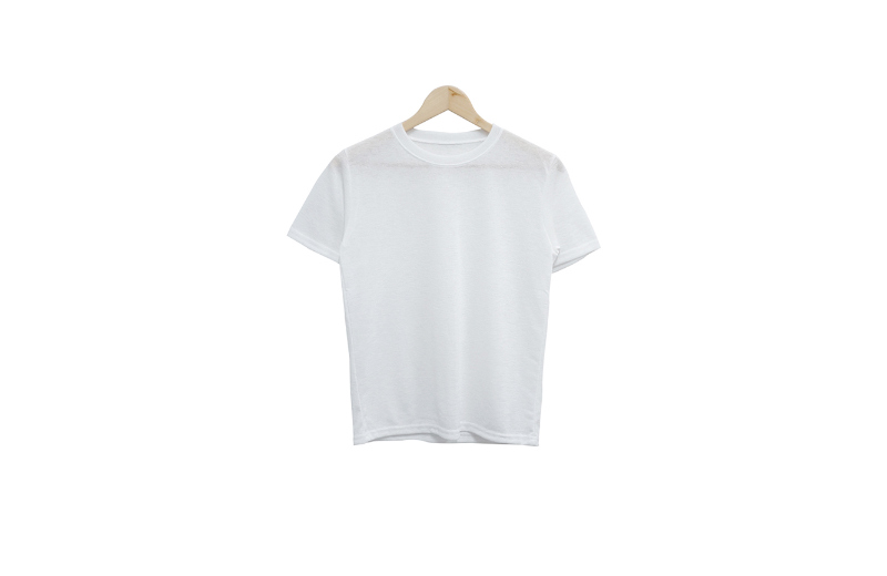 linen round see-through short sleeve tee