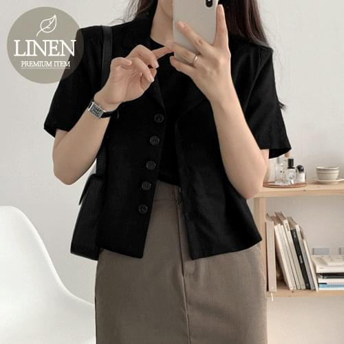 Ritz linen cropped jacket