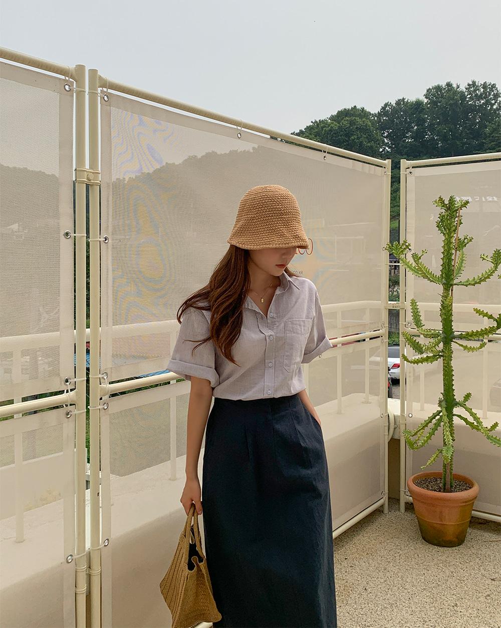 Elite linen short sleeve shirt