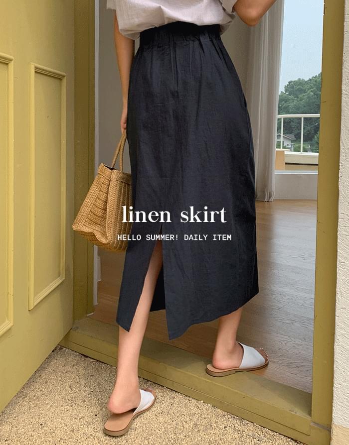Living Linen Skirt