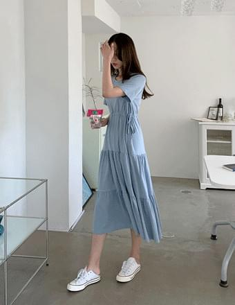 Marhan*short sleeve long Dress