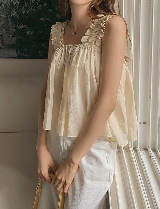 Cutie Flare Sleeveless Blouse