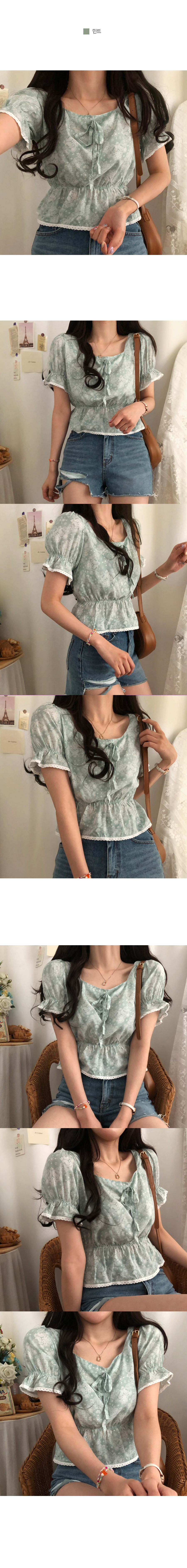 paisley lace flared blouse