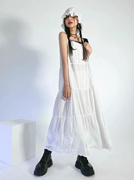 Eyelet Andy Long Dress