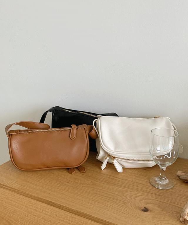 Half Moon Two-Way Leather Bag