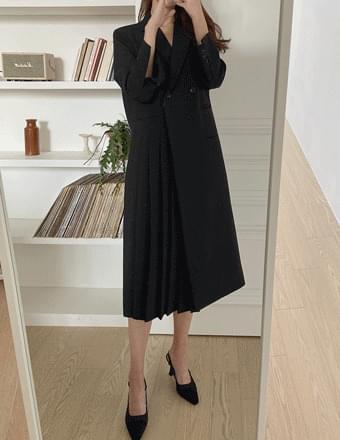 Marang* Pleated Jacket Dress
