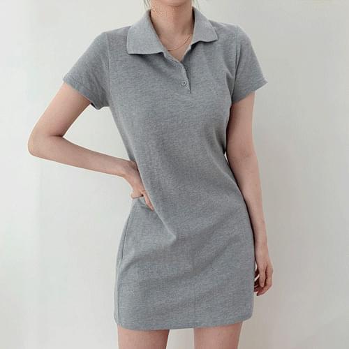 Yomi Daily Collar Short Sleeve Mini Dress T#YW790