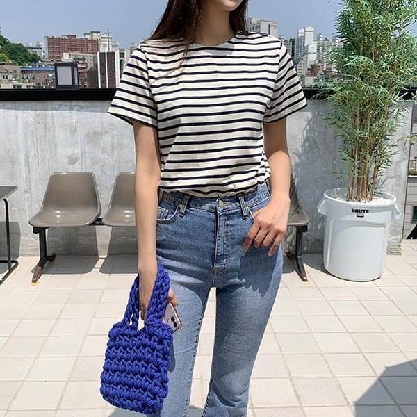 Lontie* Stripe Short Sleeve T-shirt