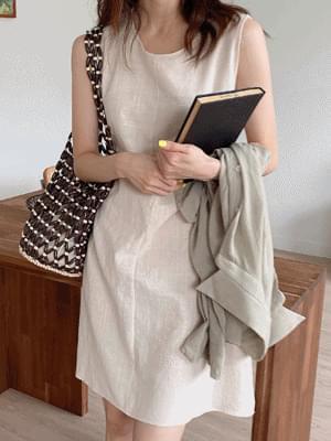 Kram Sleeveless Midi Dress