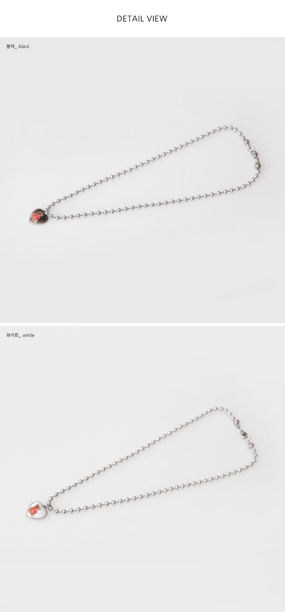 Bear Pendant Ball Chain Necklace