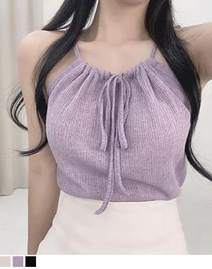 Curry Halter Linen Knitwear Sleeveless