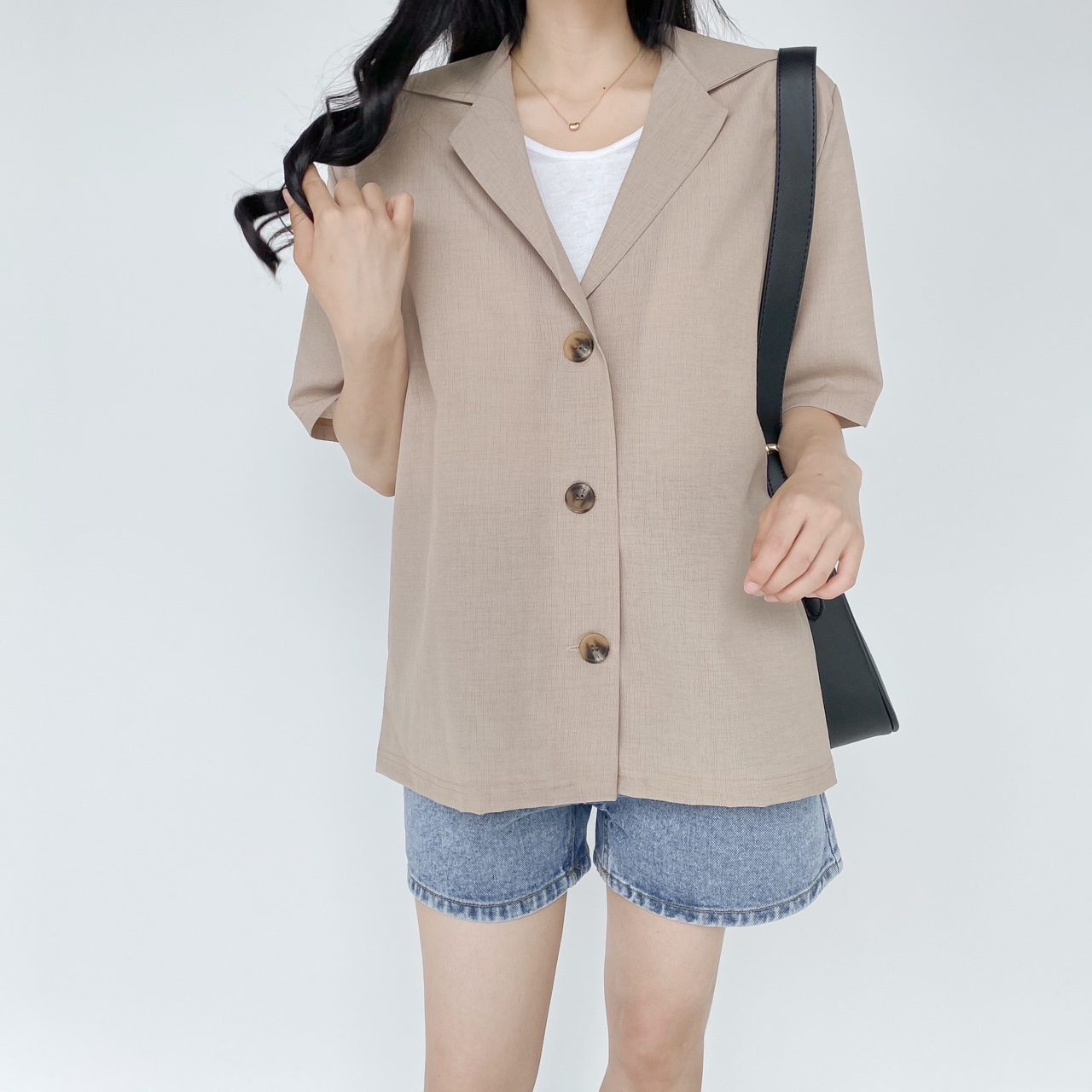 Big Size 55-99 Lenny Collar Over Fit Padded Jacket