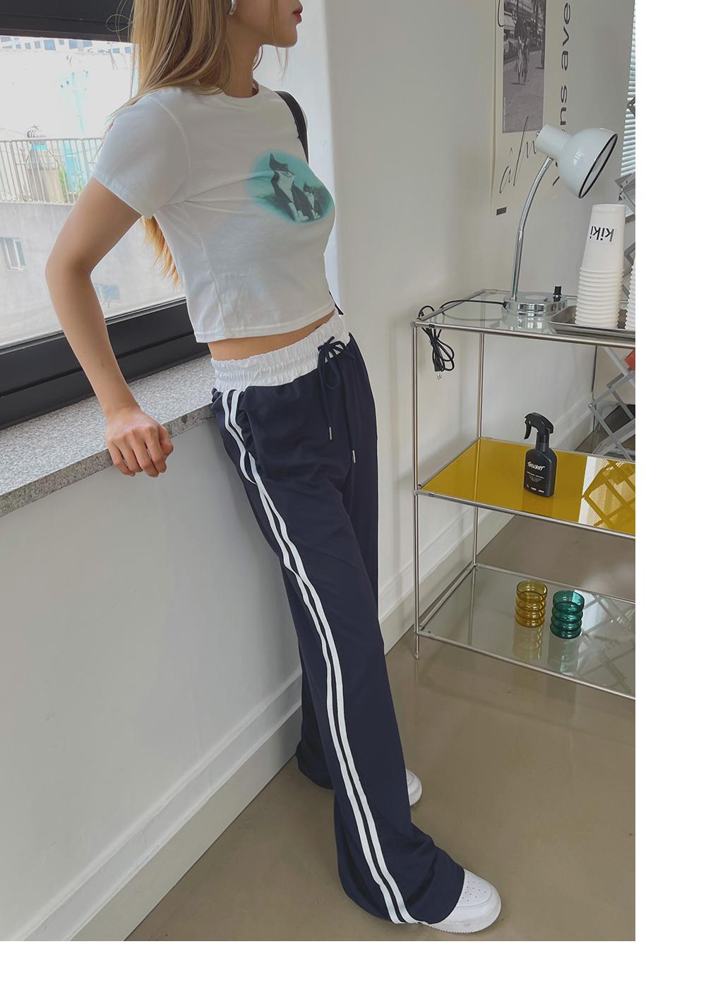 Gelba double line training banding pants