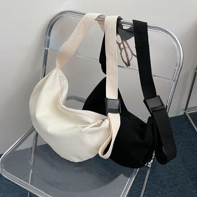 band cotton strap crossbody bag