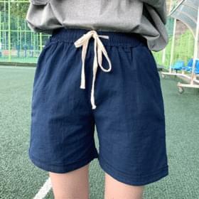 Linen Spandex Banding Pants