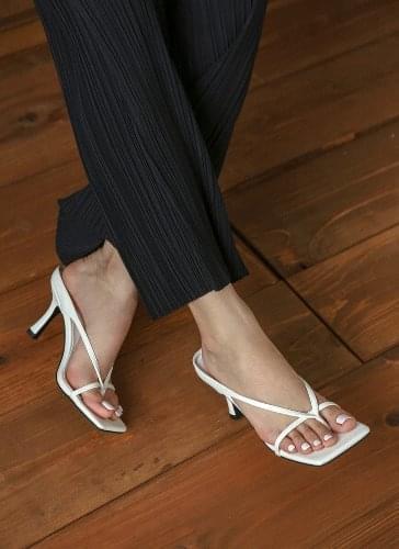 Irish Square Short Sandal Heels SDLTS2d191