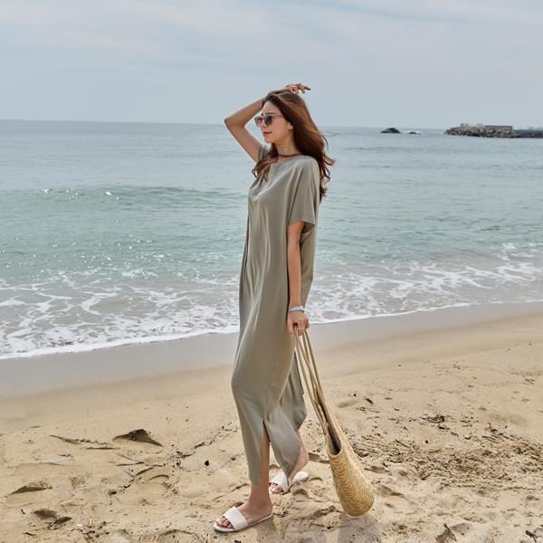 Nangnang Slit Long Dress #38006