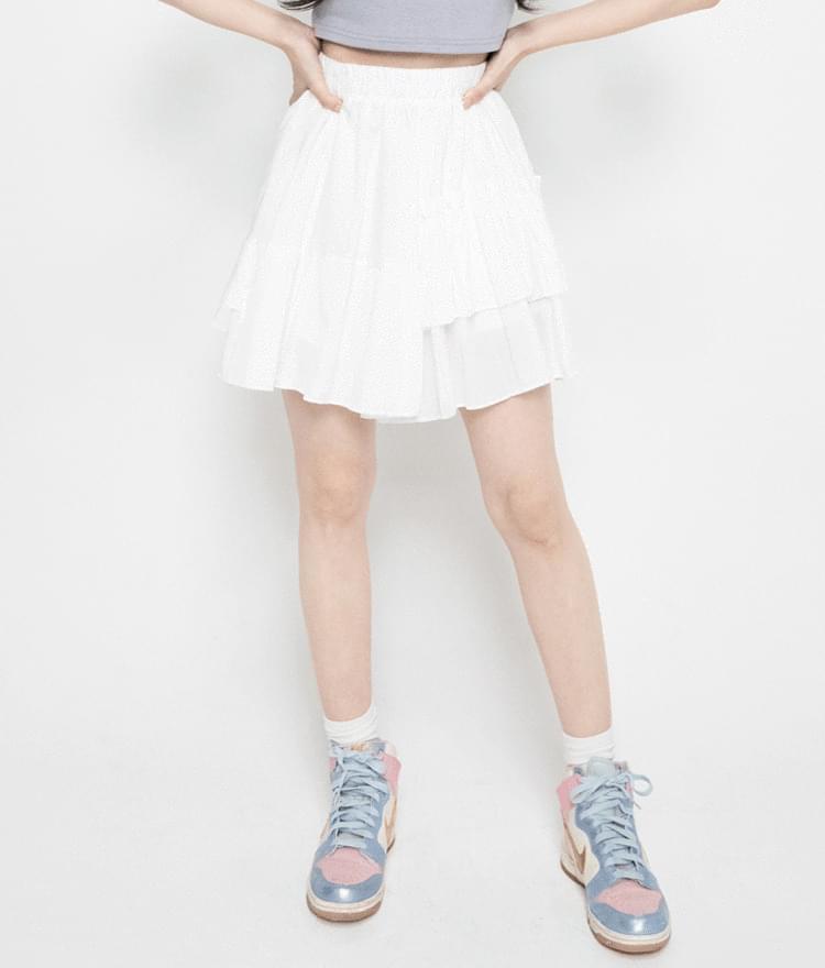 Basic Tiered Mini Skirt