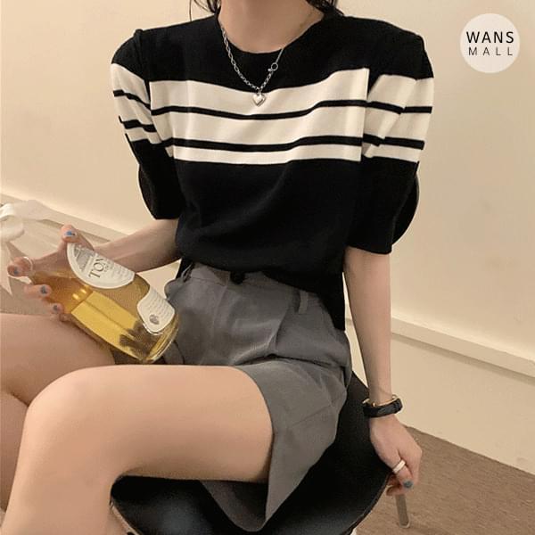 kn4964 Teradi Puff Short Sleeve Knitwear
