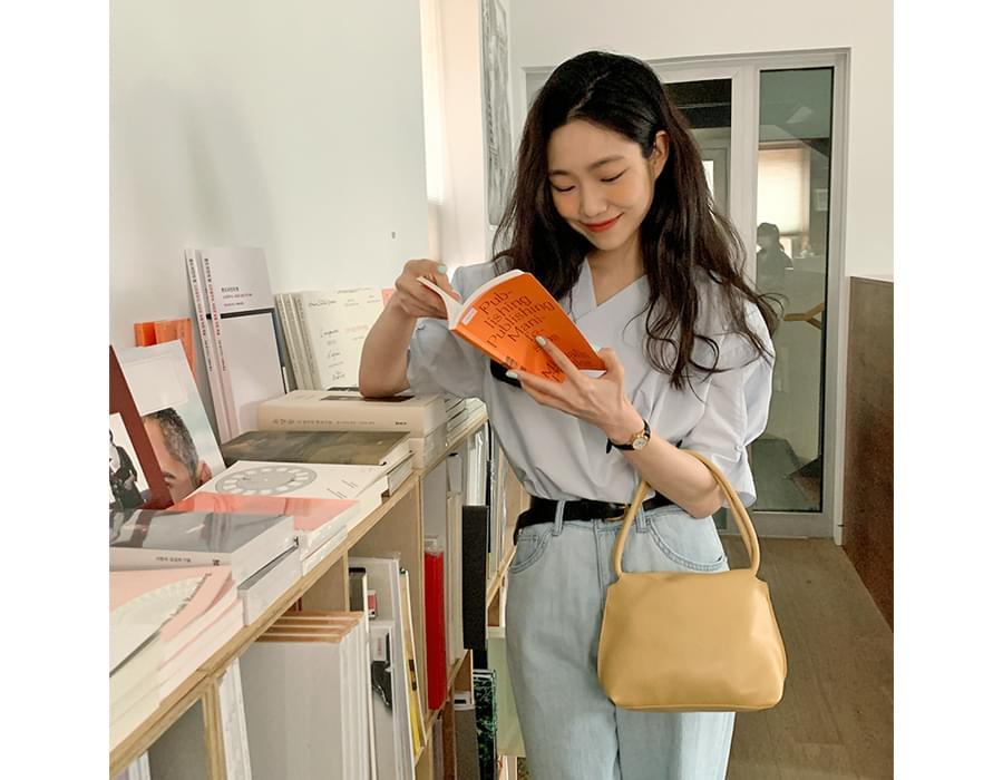 Pastel Leather Mini Tote Bag