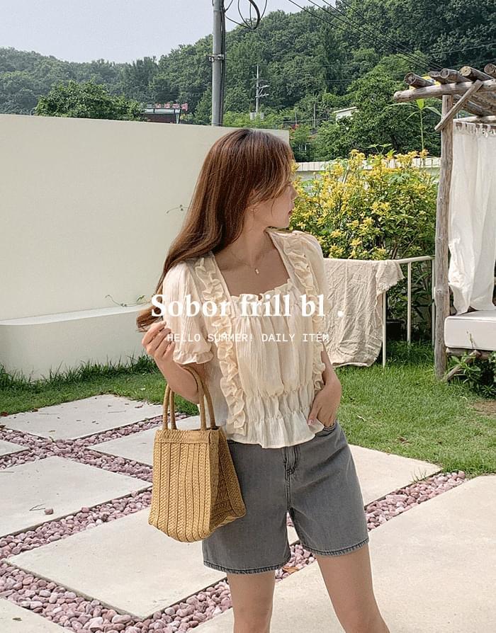sobor frill blouse