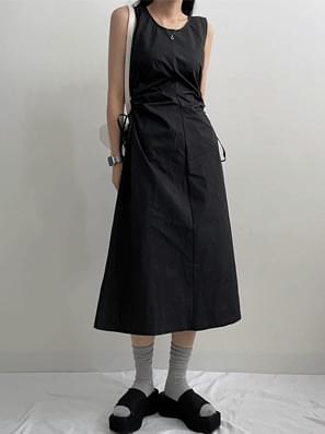 Landholt Im Shirring Long Dress