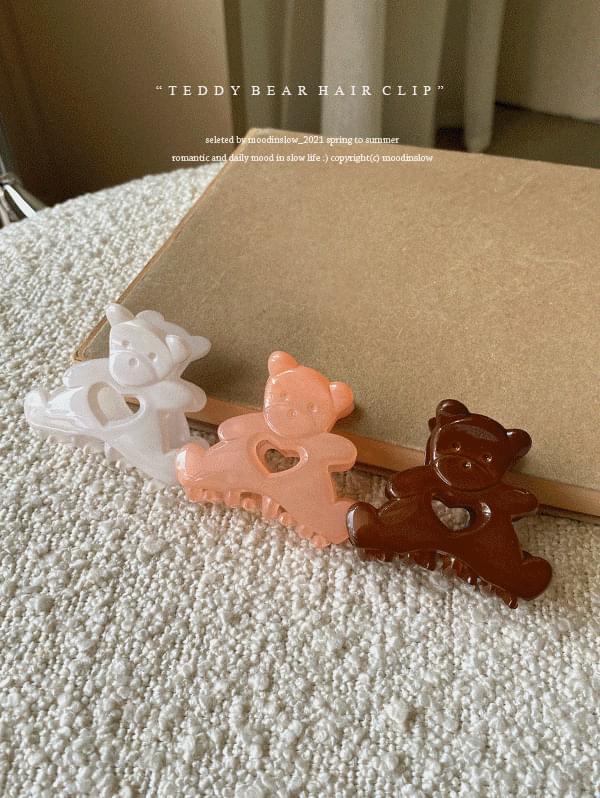 teddy bear hairpin 配飾