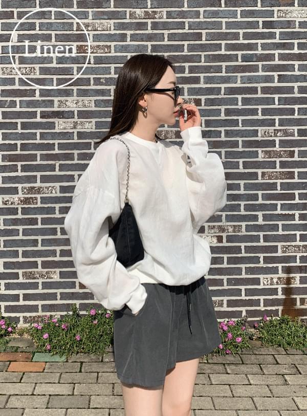 linen over Sweatshirt
