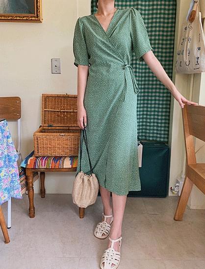 Julai Flower Wrap Long Dress
