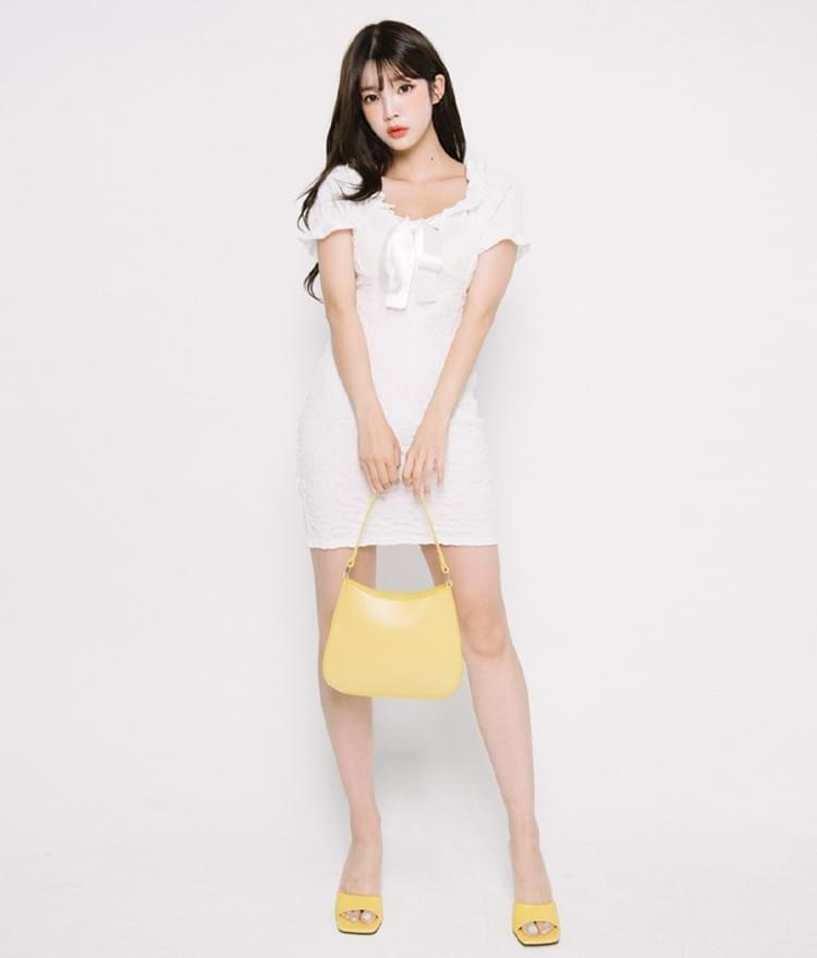 Ribbon Accent Mini Dress