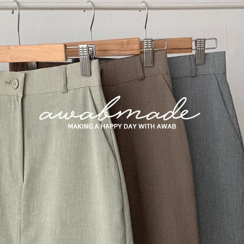 #AWABMADE:_Premium Sheer Check Long Skirt