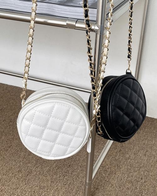 Lofi Quilted Tambourine Mini Chain Crossbody Bag