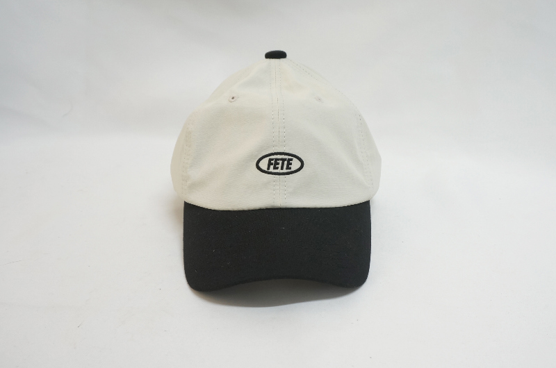 color matching embroidered ball cap