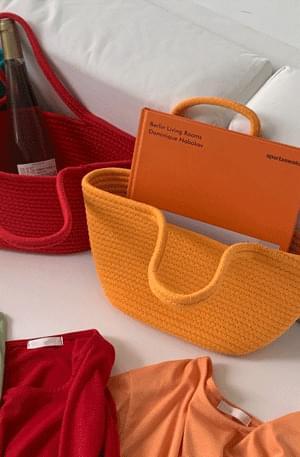Weaving Color Basket Bag