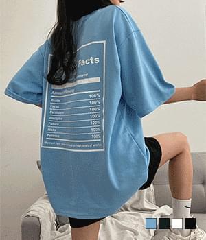 Nutrition back print overfit short sleeve T-shirt