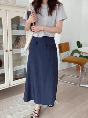 rust pocket skirt