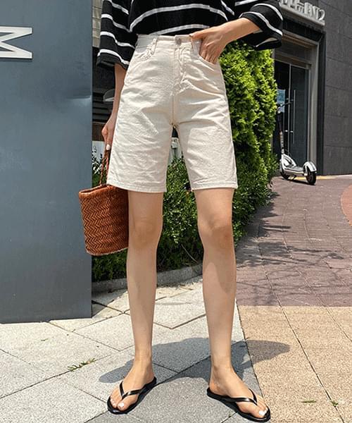 Natural A-line 4 part cotton shorts