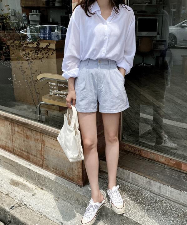 Milky's Pintuck Cotton Shorts