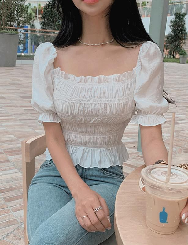 Sure Shatin Shirring blouse
