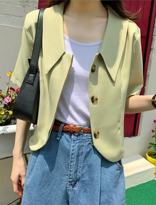 lounge collar blouse jacket