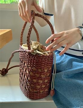 braid leather mini shoulder bag