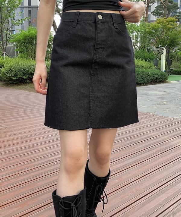 nine Black Denim skirt