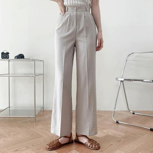 Vincen Summer Basrock Spandex Pintuck Semi Wide Pants P#YW649
