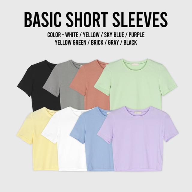 Lessel Basic Short Sleeve Crop Tee