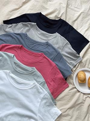 Daily cropped loose fit short sleeve tee