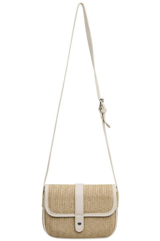 long rattan crossbody bag