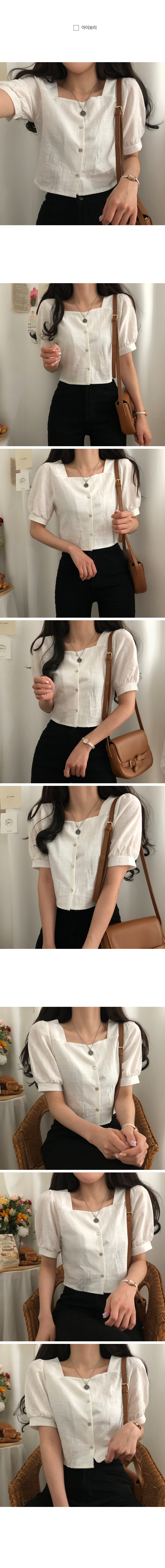 Chocolate heartline linen cropped blouse